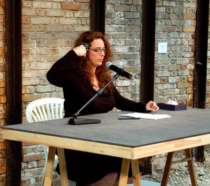 Tania Bruguera, Self Sabotage, 2009. 53rd Venezia Biennale. photos: César Delgado Wixen.